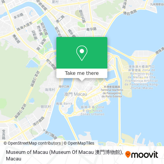 Museum of Macau (Museum Of Macau 澳門博物館) map