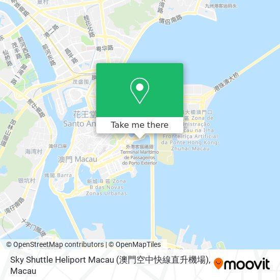 Sky Shuttle Heliport Macau (澳門空中快線直升機場) map