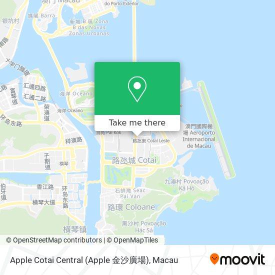 Apple Cotai Central (Apple 金沙廣場) map