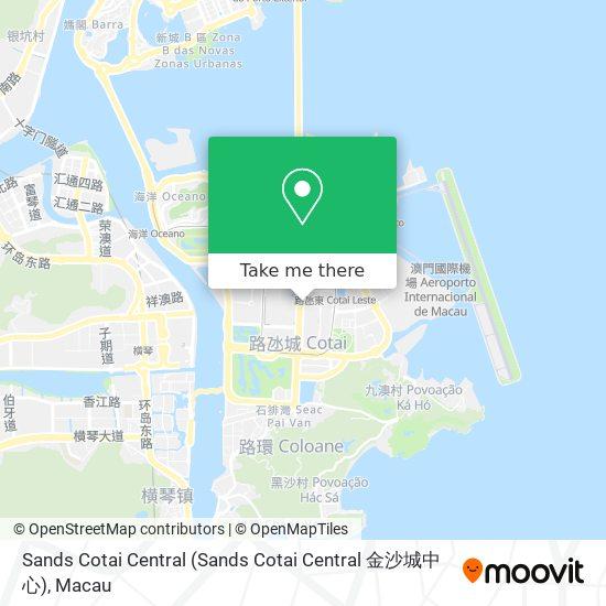 Sands Cotai Central map