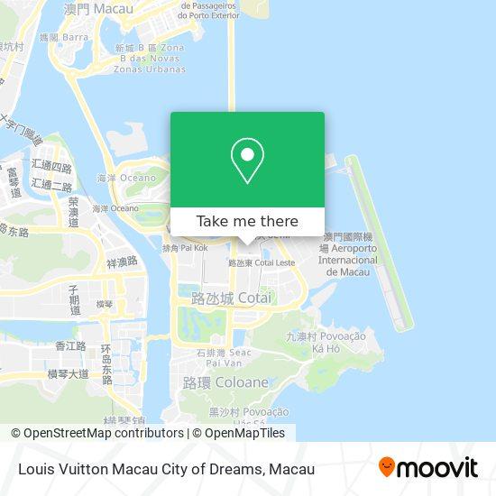 Louis Vuitton Macau City of Dreams map