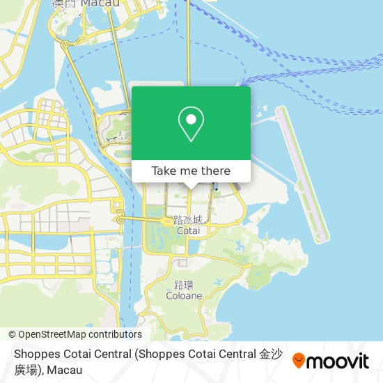 Shoppes Cotai Central map