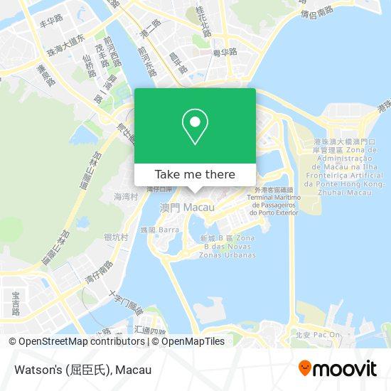 Watson's (屈臣氏) map