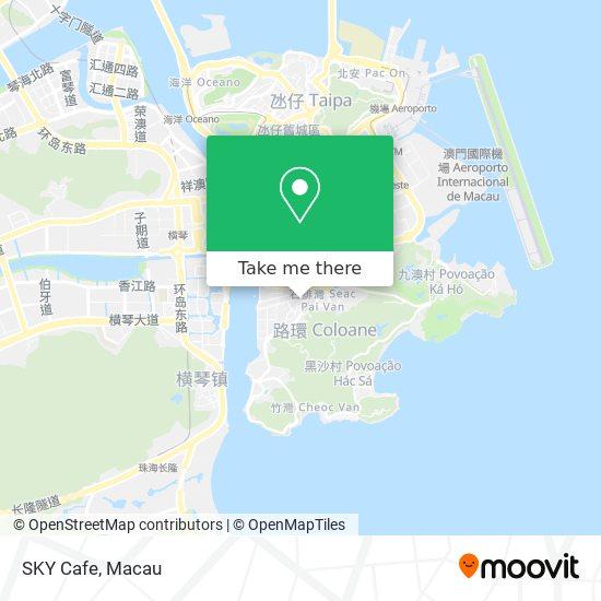 SKY Cafe map