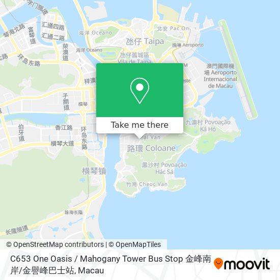 C653 One Oasis / Mahogany Tower Bus Stop 金峰南岸 / 金譽峰巴士站 map