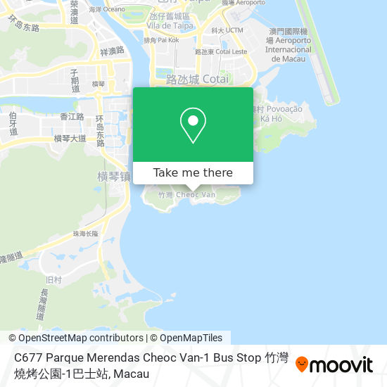 C677 Parque Merendas Cheoc Van-1 Bus Stop 竹灣燒烤公園-1巴士站 map