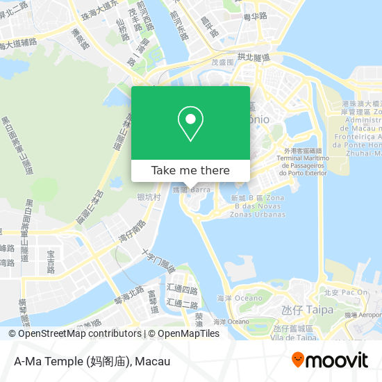A-Ma Temple (妈阁庙) map