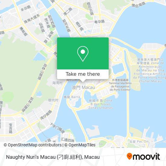 Naughty Nuri's Macau (刁廚.紐利) map