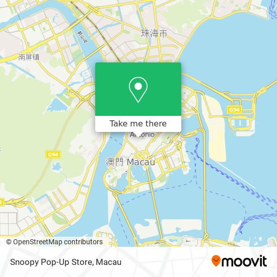 Snoopy Pop-Up Store map