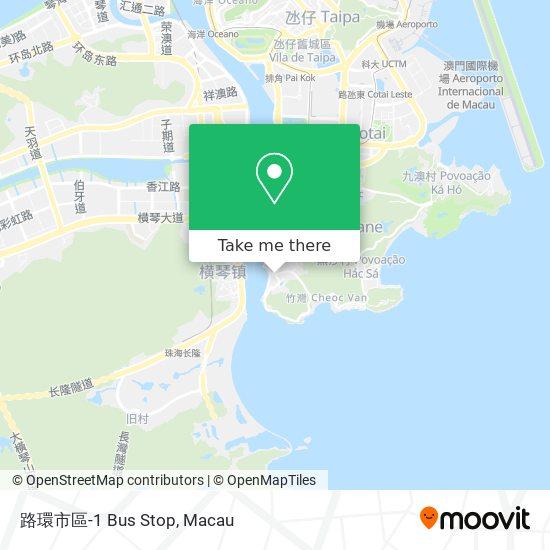 路環市區-1 Bus Stop map