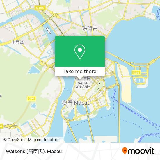 Watsons (屈臣氏) map