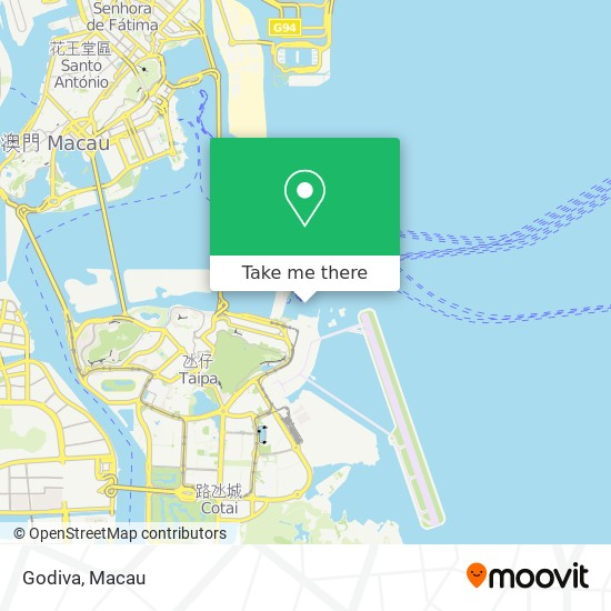 Godiva map