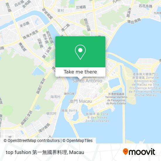 top fushion 第一無國界料理 map