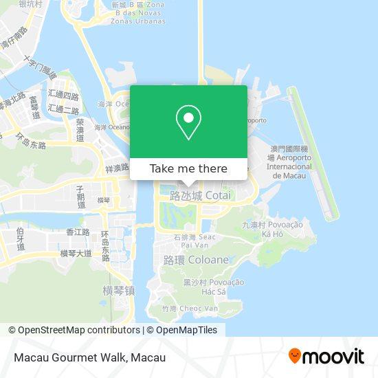 Macau Gourmet Walk map