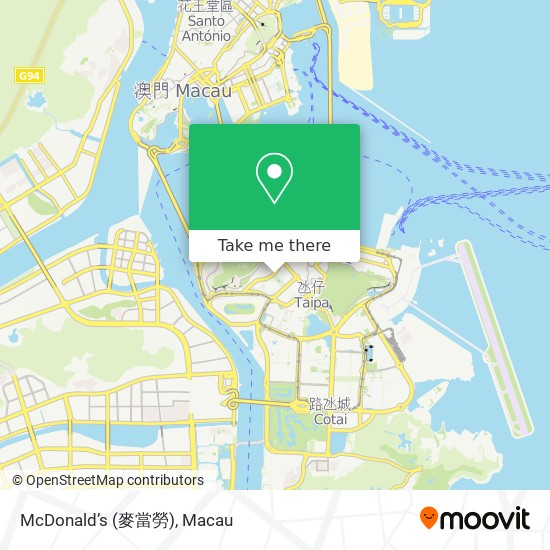 McDonald's (麥當勞) map