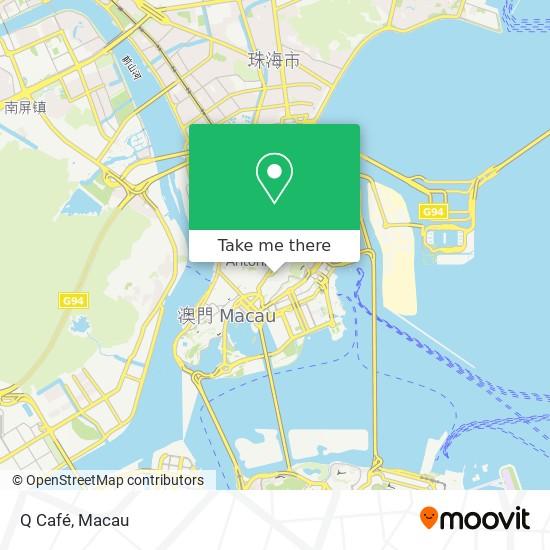 Q Café map