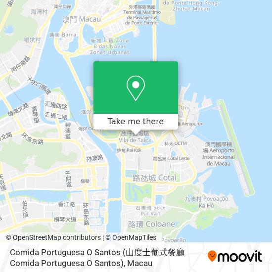 Comida Portuguesa O Santos map