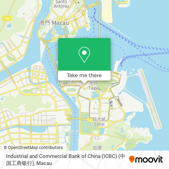 Industrial and Commercial Bank of China (ICBC) (中国工商银行) map