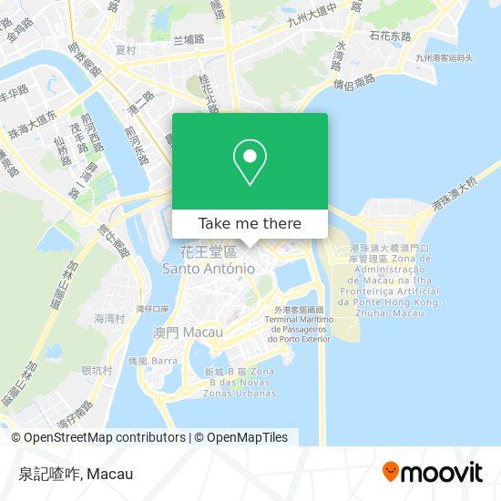泉記喳咋 map