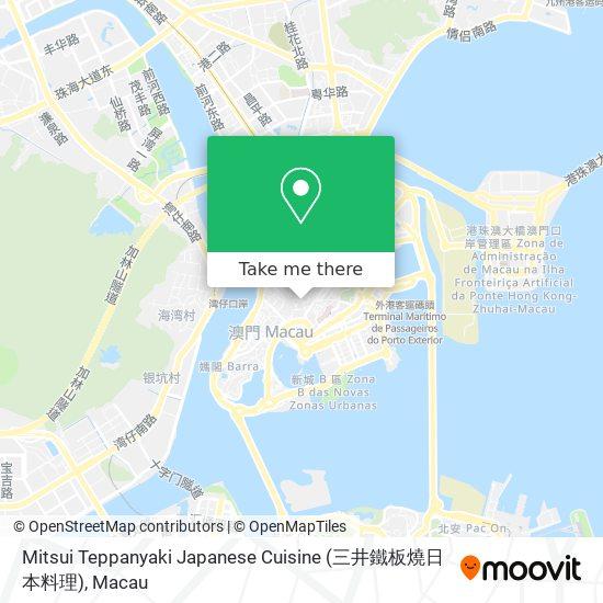 Mitsui Teppanyaki Japanese Cuisine (三井鐵板燒日本料理) map