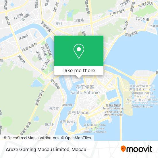 Aruze Gaming Macau Limited map