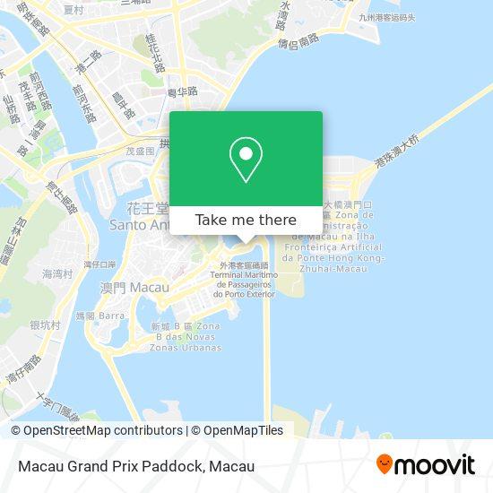 Macau Grand Prix Paddock map