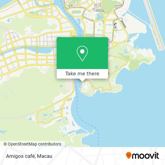 Amigos café map
