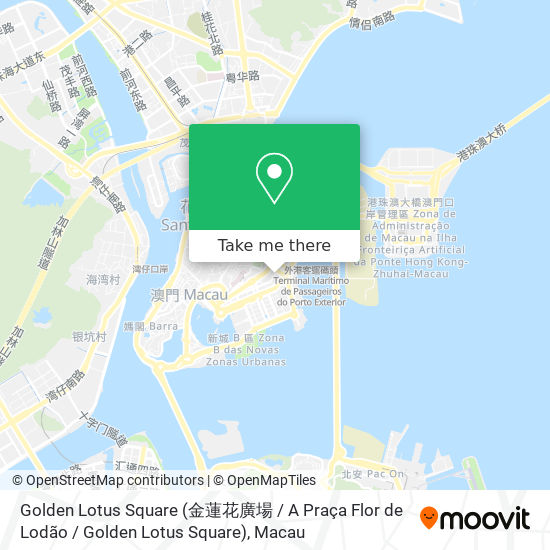 Golden Lotus Square (金蓮花廣場 / A Praça Flor de Lodão / Golden Lotus Square) map