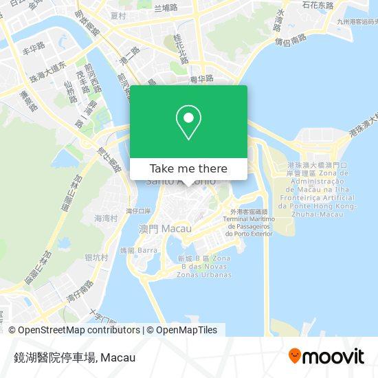 鏡湖醫院停車場 map