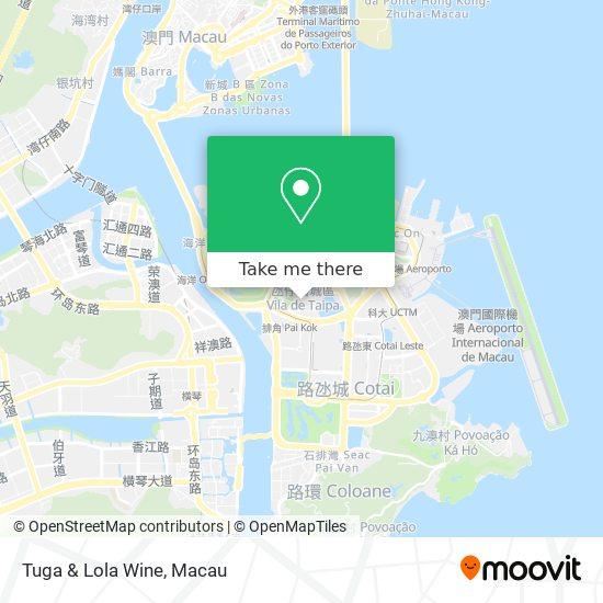 Tuga & Lola Wine map