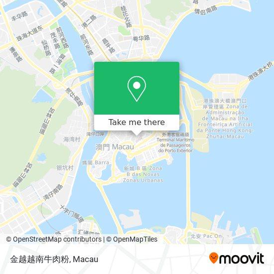 金越越南牛肉粉 map