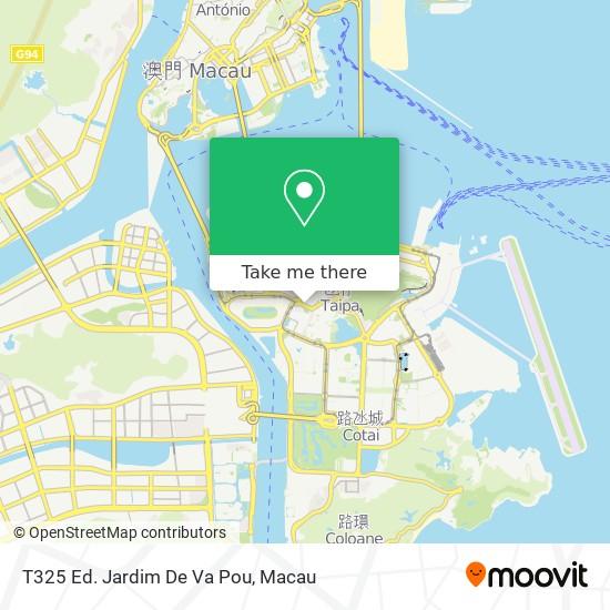 T325 Ed. Jardim De Va Pou map