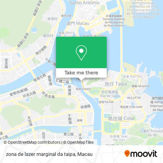 zona de lazer marginal da taipa map