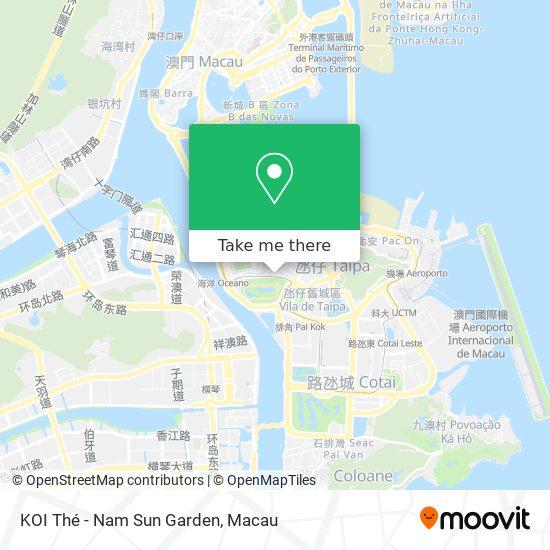 KOI Thé - Nam Sun Garden map