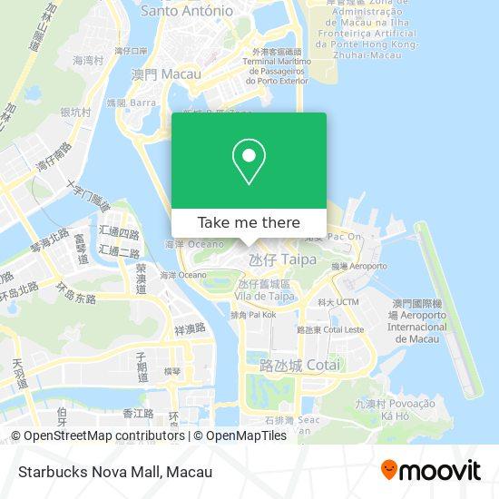 Starbucks Nova Mall map