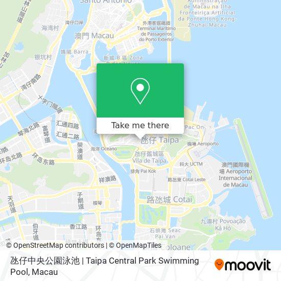 氹仔中央公園泳池 | Taipa Central Park Swimming Pool map