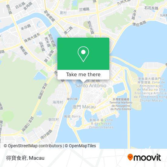 得寶食府 map