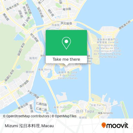 Mizumi 泓日本料理 map