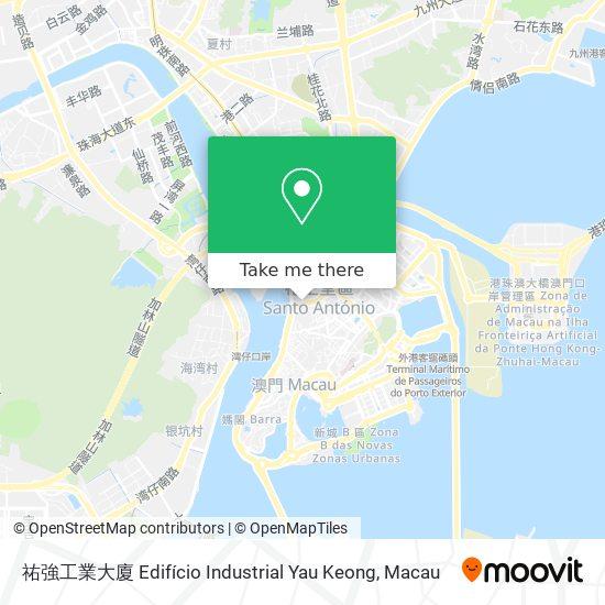 祐強工業大廈 Edifício Industrial Yau Keong map