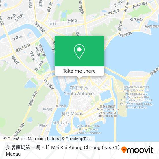 美居廣場第一期 Edf. Mei Kui Kuong Cheong (Fase 1) map