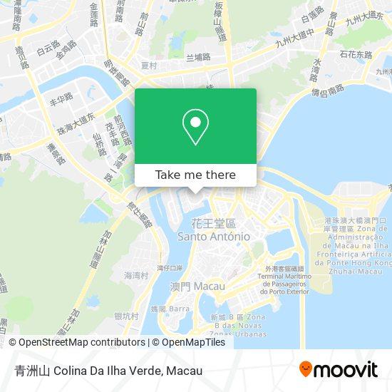 青洲山 Colina Da Ilha Verde map