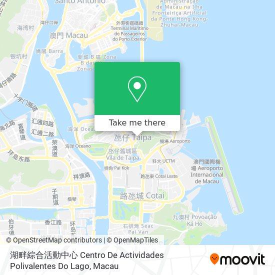 湖畔綜合活動中心 Centro De Actividades Polivalentes Do Lago map