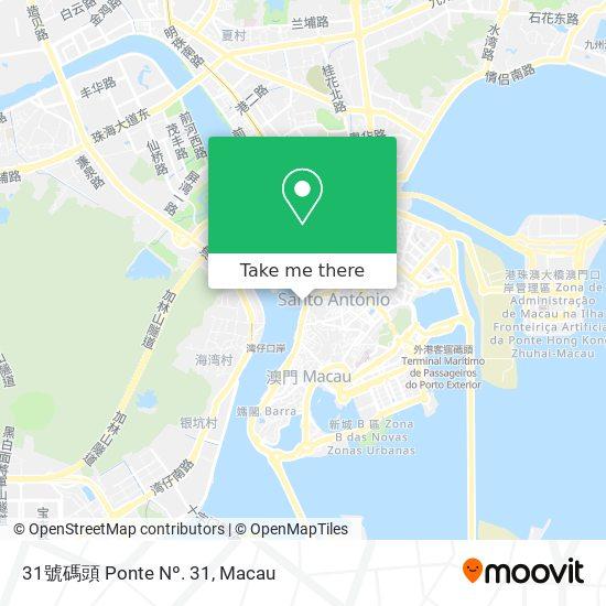 31號碼頭 Ponte Nº. 31 map