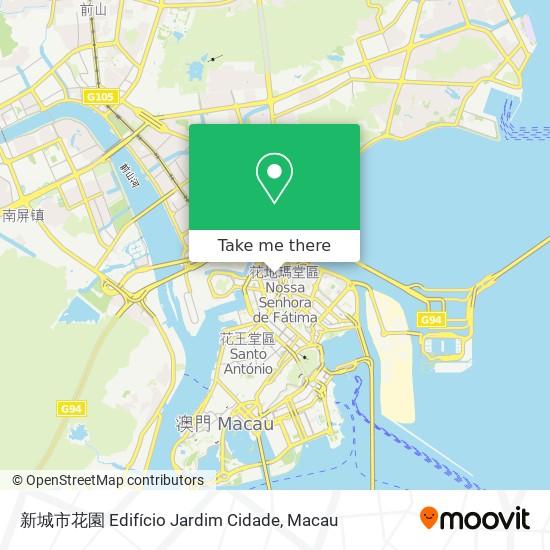 新城市花園 Edifício Jardim Cidade map