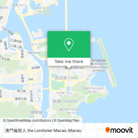 金沙城中心 Sands Cotai Central map