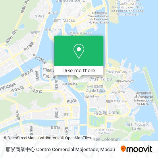 順景商業中心 Centro Comercial Majestade map