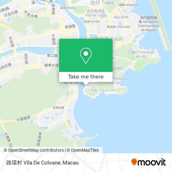 路環村 Vila De Coloane map