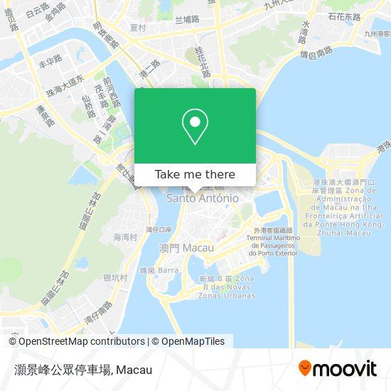 灝景峰公眾停車場 map
