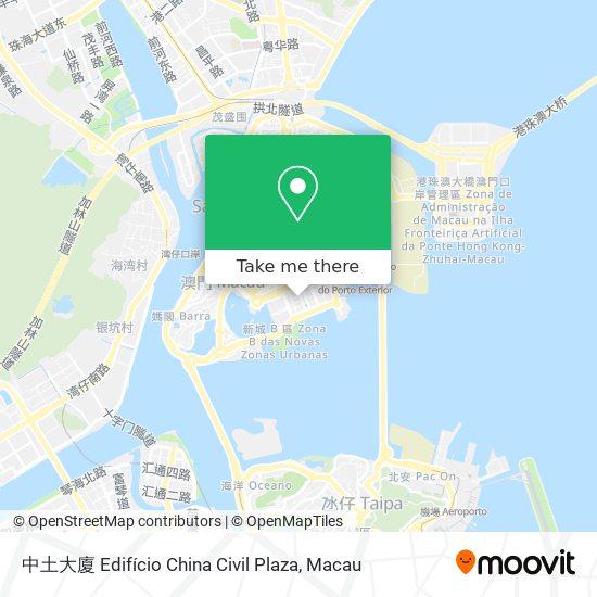 中土大廈 Edifício China Civil Plaza map
