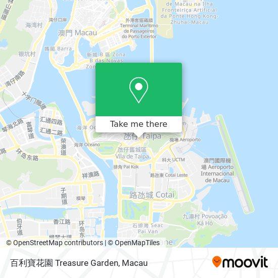 百利寶花園 Treasure Garden map